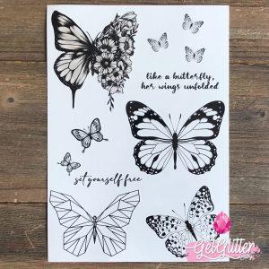 Temporary Tattoo Butterflies