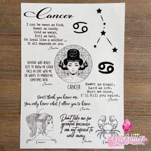Zodiac Sign Tattoo Cancer
